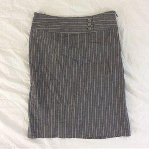 Gap stretch high waisted Pinstriped pencil skirt 4